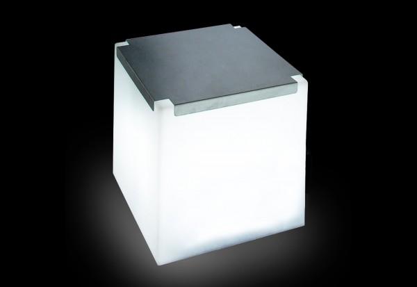 Leuchtwürfel Cubo INOX